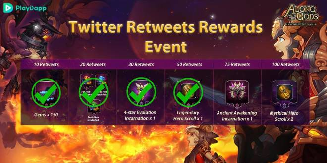Along with the Gods: Knights of the Dawn: Events - Twitter Event Progress Update  image 1