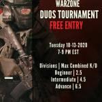 Free Warzone tournament