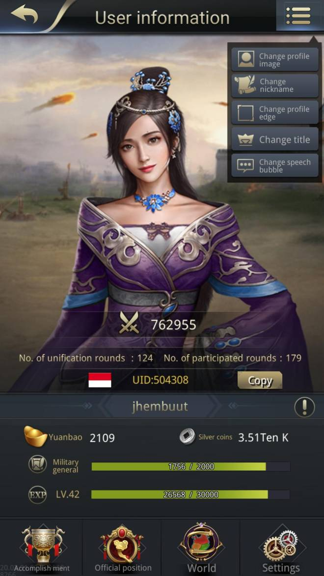 Three Kingdoms RESIZING: Limited General Board [Lady Zhen] - Jhembuut /channel 5 /504308 / is this right?? image 1