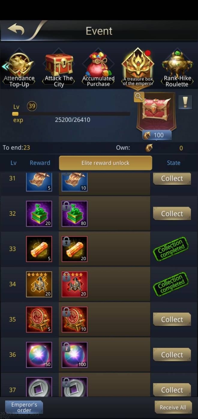 "Three Kingdoms RESIZING: Q&A - Event rewards incorrectly shown as ""Collected"" image 3"