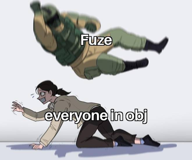 Rainbow Six: Memes - Fuze was removed for mass team killing  image 1