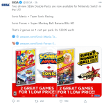 Two all-new SEGA Double Packs are now available for Nintendo Switch in the US!