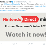 Nintendo Direct Mini Partner Showcase October 2020 is here!