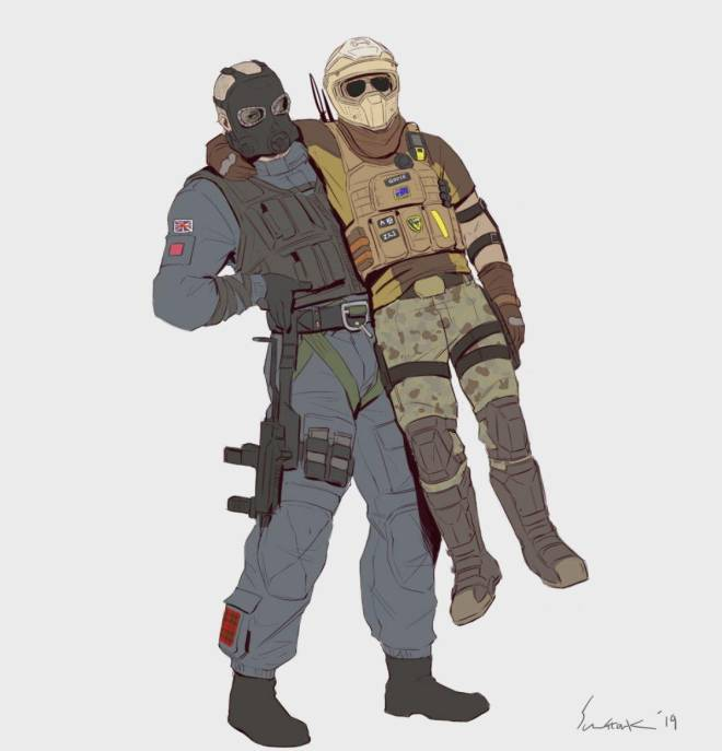 Rainbow Six: General - Do any of you guys have a friend to do combo starts with and if so what two ops image 1