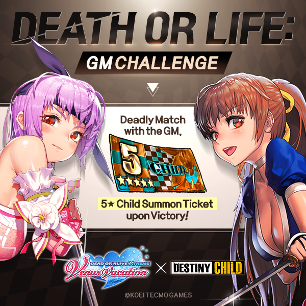 DESTINY CHILD: PAST NEWS - [EVENT] Death or Life - GM Challengers List image 1