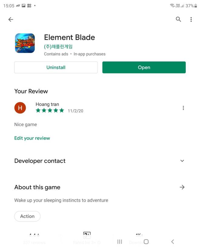 Element Blade: - Market Review - Nickname: Gi     UID: 60O27E7H image 1
