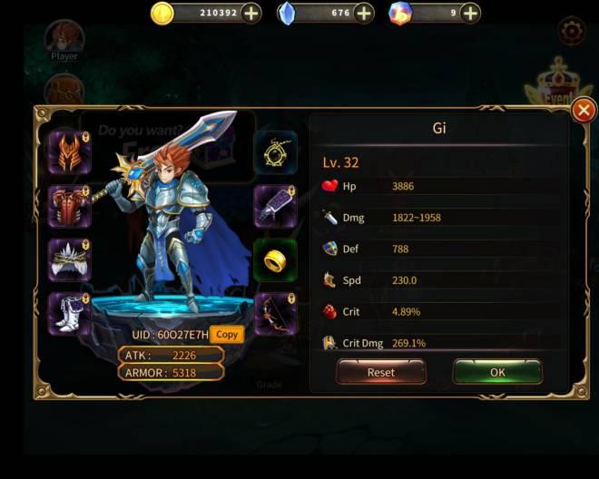 Element Blade: - Player Level 30 - Nickname: Gi      UID: 60O27E7H image 1