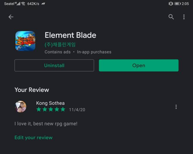 Element Blade: - Market Review - Nick Name : Sothea UID: 611CAGCD image 1