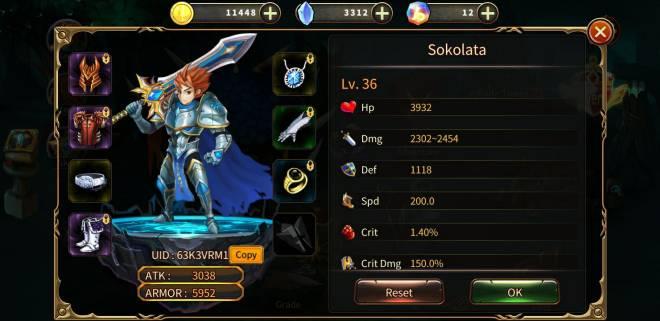 Element Blade: - Player Level 30 - Nickname: sokolata UID: 63K3VRM1 image 1
