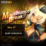 [DONE] Nov. 5 Maintenance Notice