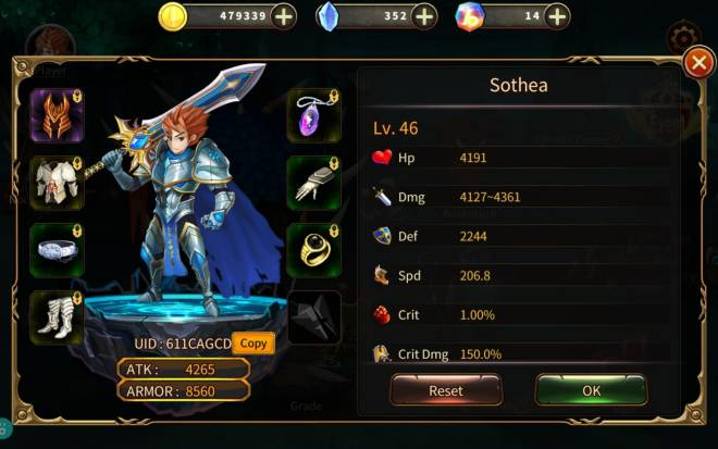 Element Blade: - Player Level 10 - Name : Sothea UID: 611CAGCD image 1