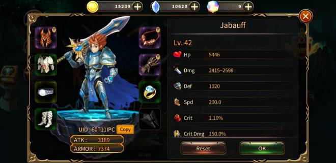 Element Blade: - Player Level 10 - Name: Jabauff UID: 60T11IPC image 1