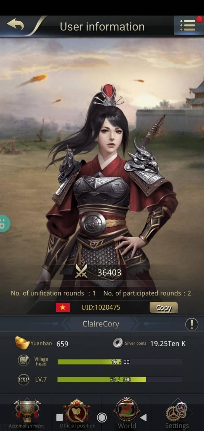 Three Kingdoms RESIZING: Join & Greeting Board - Good game chanel 10/ Uid: 1020475 image 1