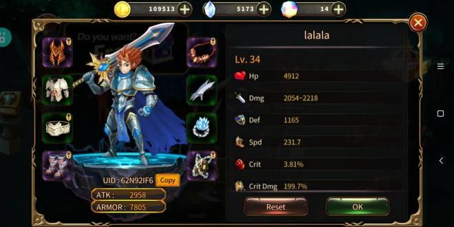 Element Blade: - Player Level 10 - Nickname: lalala UID: 62N92IF6 image 1