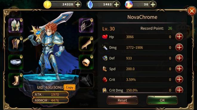Element Blade: - Player Level 30 - Nickname: NovaChrome UID:63GI3ONU Player Level 30! image 1