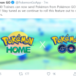 Now LV40 Trainers can send their pokemon to Pokemon Home!