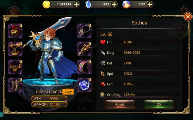 Element Blade: - Player Level 30 - Level 60 UID: 611CAGCD image 1