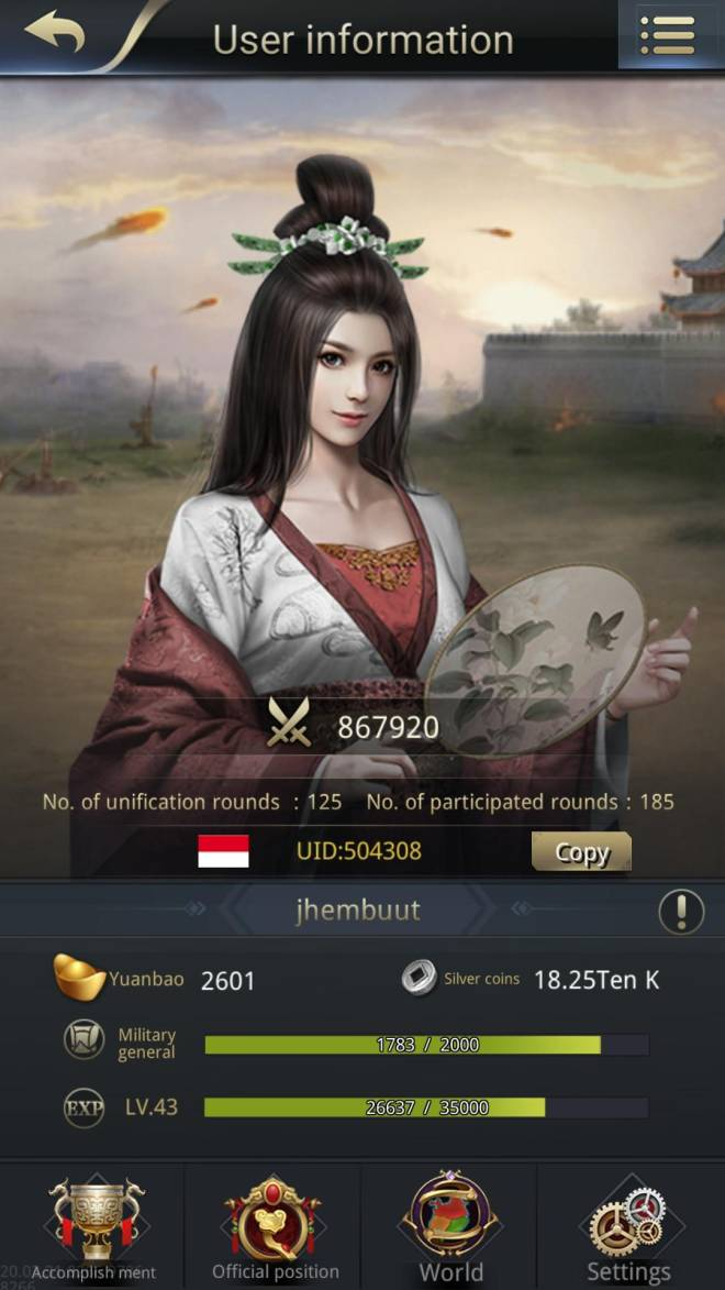 Three Kingdoms RESIZING: Limited General Board [Da Qiao], END - jhembuut /channel 5 /504308/ hi all image 1