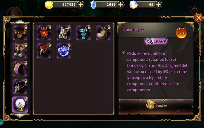 Element Blade: Q&A - 5% of the legendary piece! does it still give 5% when i upgrade to mystic item? image 1