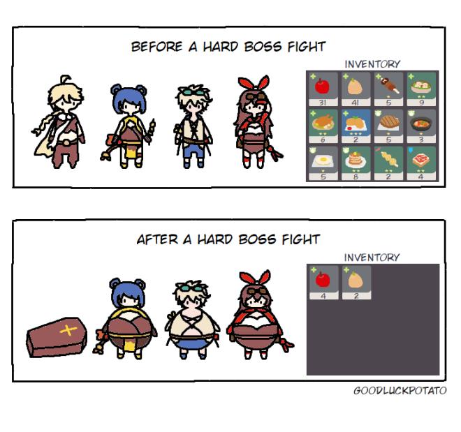 Genshin Impact: Posts - Boss fights = visiting grandma image 1
