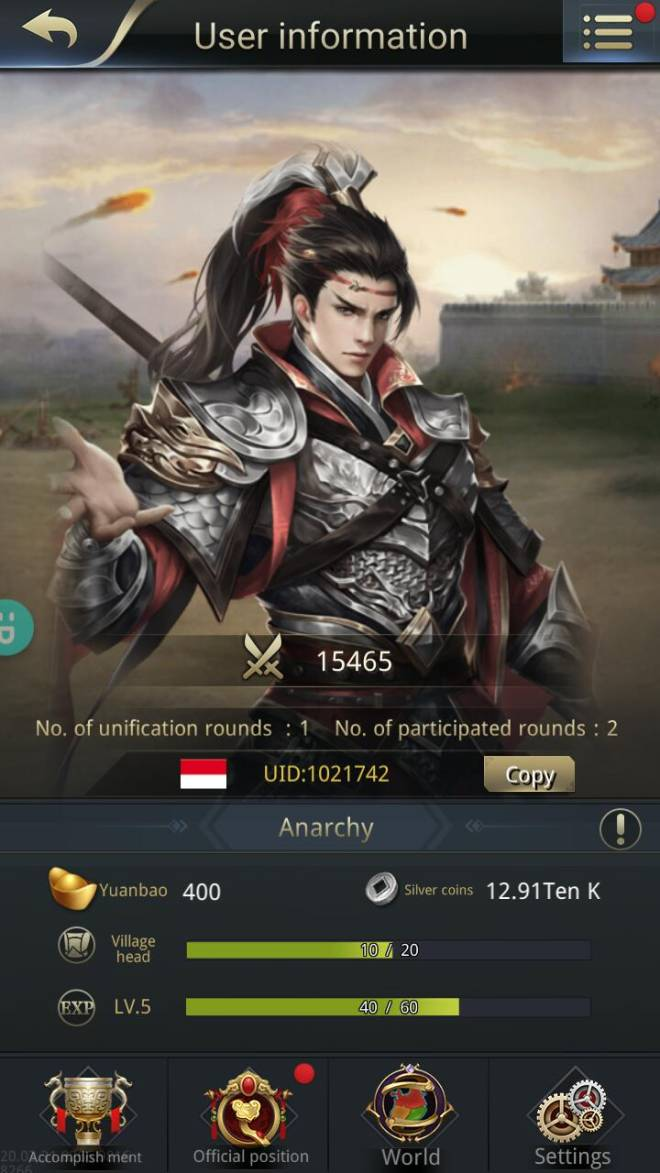 Three Kingdoms RESIZING: Join & Greeting Board - Anarchy/CH10/1021742 hello warrior :) image 1