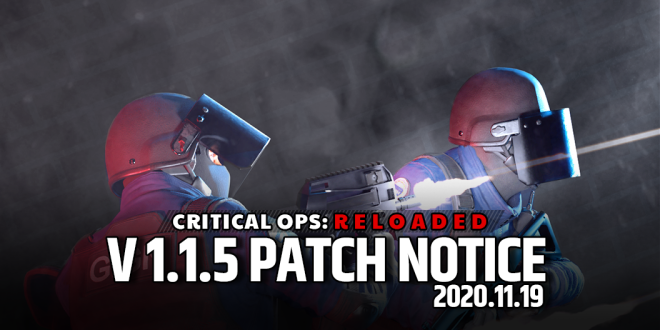ENG Critical Ops: Reloaded: Announcements - 11/19 (THU) Patch Notes image 1