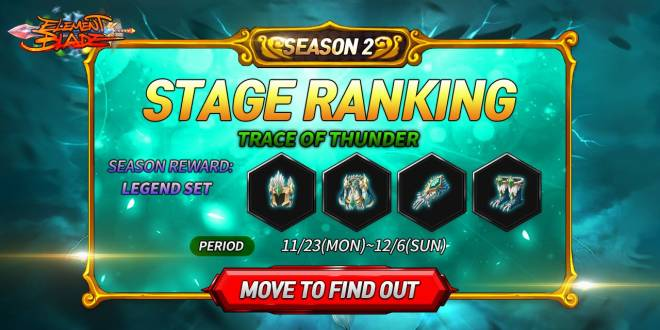 Element Blade: Event - Stage Ranking Season.2 - Trace of Thunder image 3