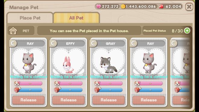 My Secret Bistro: ● FAQ - [FAQ] New <Pet> system update image 19