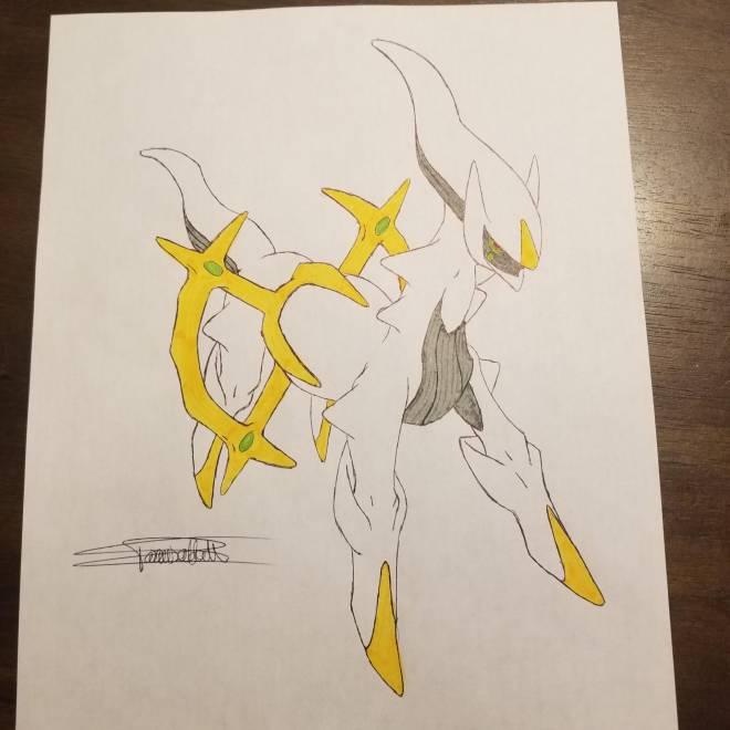 Pokemon: General - My Arceus Drawing :) image 1