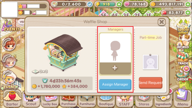 """My Secret Bistro: ● FAQ - [FAQ] Learn more about the Income Decor """"Manager"""" Feature! image 38"""