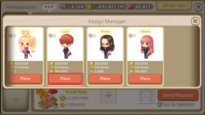 """My Secret Bistro: ● FAQ - [FAQ] Learn more about the Income Decor """"Manager"""" Feature! image 29"""