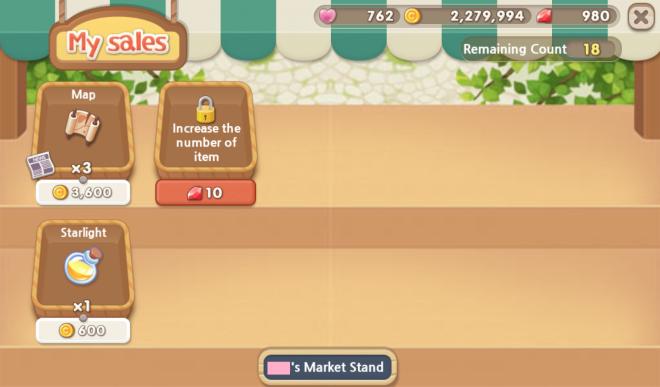 My Secret Bistro:  - Beginner's Guide - 9. Market Stand & Social Activities image 1