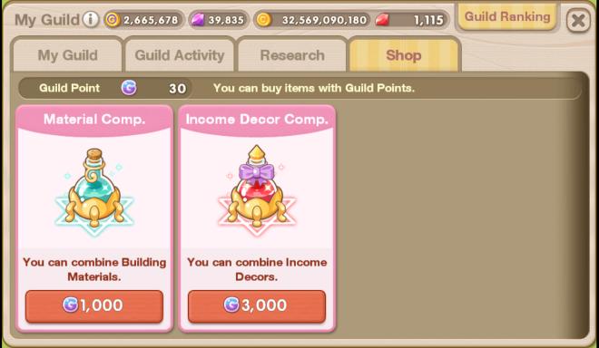 My Secret Bistro: ● FAQ - New System [Guild] Guide image 26