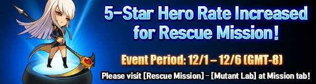 Noblesse:Zero: Events - [Event] 5-Star Hero Rate Increased for Rescue Mission! image 1