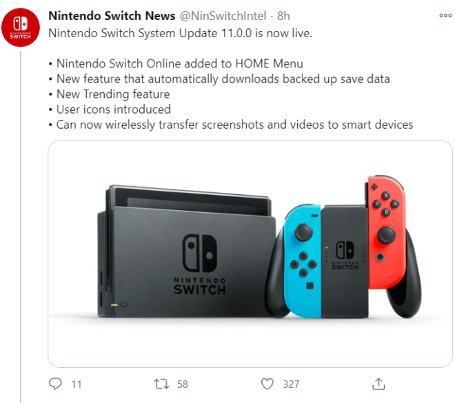Off Topic: General - Nintendo Switch Update is out! image 1