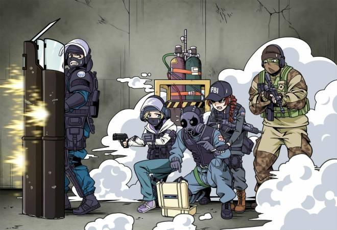 Rainbow Six: Art - Attacker Team work image 1