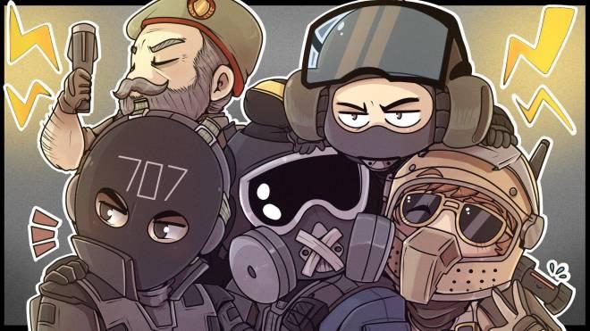 Rainbow Six: Art - Defending Teamwork image 1