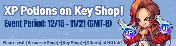 Noblesse:Zero: Events - [Event] XP Potions on Key Shop! image 1