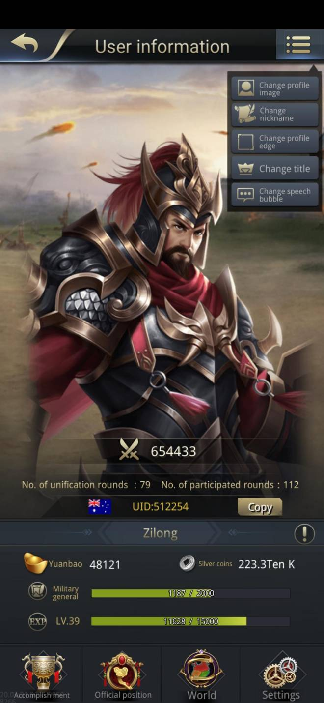 Three Kingdoms RESIZING: Limited General Board [Cao Ren], END - Zilong/512254/Channel 5 image 1