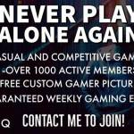 Never Play Alone Again.