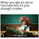 ngl Zhongli's voice is amazing