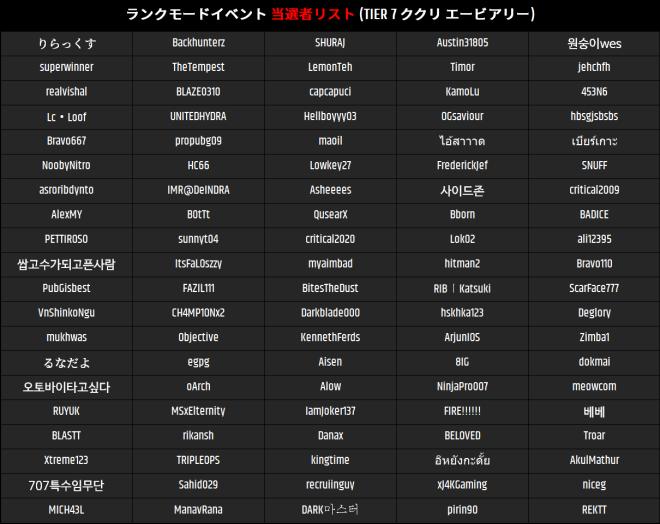 JP Critical Ops: Reloaded: Announcement - 【お知らせ】ランクモードイベントの当選者発表 image 5