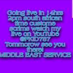 LIVE CUSTOMES TOMORROW ON YOUTUBE