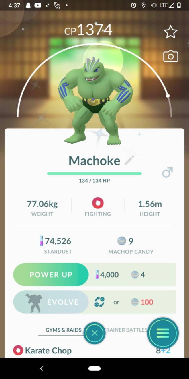 Pokemon: General - Here's a picture of my shiny machoke 💚💚💚 image 1