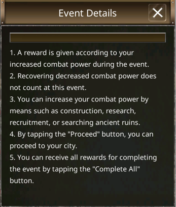 VERSUS : REALM WAR: Game Guide - ▣ Lord's Strength image 1