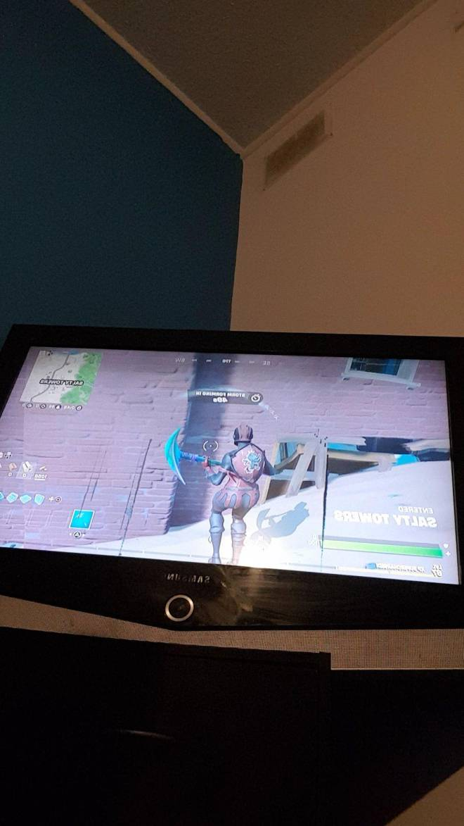 Fortnite: Promotions - Something happened to my tv it turned upside down look at it what  image 1