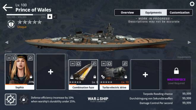 Warship Fleet Command: Notice - Pre-update Notices on WFC 2.0 / EP.1 image 5