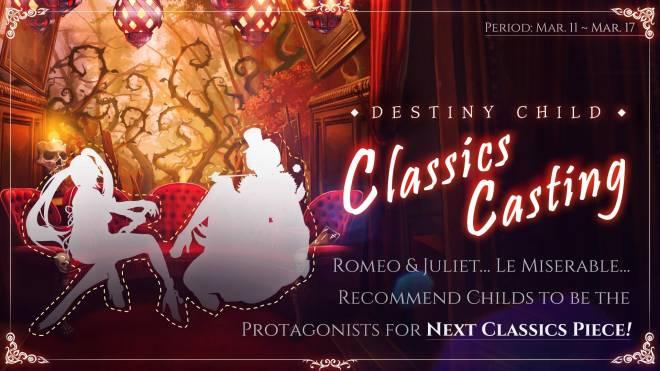 DESTINY CHILD: PAST NEWS - [EVENT] DC Classics Casting image 1