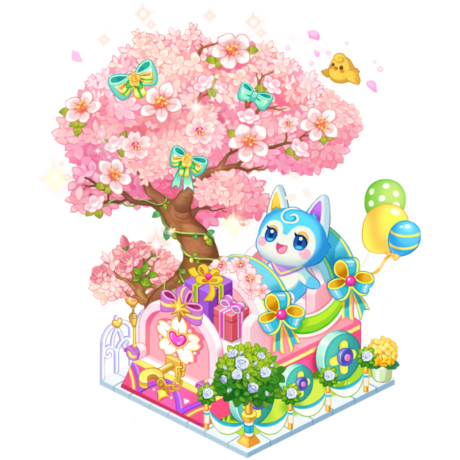 My Secret Bistro: ● Event - [Pring's Cherry Blossom Train] Lucky Box Accumulated Usage Event image 3