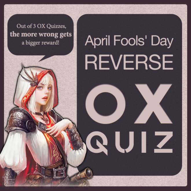 Dragon Chronicles: Event - 🎉Event. April Fools' Day, Reverse OX Quiz! image 1